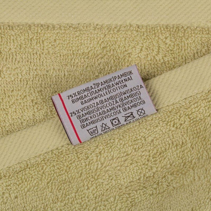 Doživite raskošnu udobnost u kupatilu! Kvalitetan peškir Bamboo II od kombinacije pamuka i bambusovih vlakana odlikuje sposobnost boljeg, većeg upijana i brzog sušenja. Zbog svoje gustinje tkanja i voluminoznosti spada u premium klasu peškira. Krasi ga reljefna struktura po cijeloj površini. Periv na 60°C.
