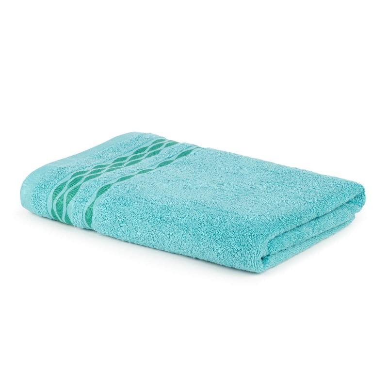 Doživite raskošnu udobnost u kupatilu! Kvalitetan peškir Fiona od pamučnog frotira je izdržljiv, mekan, upijajući i brzo se suši. Klasičan jednobojni peškir s dekorativnom bordurom. Periv na 60°C.
