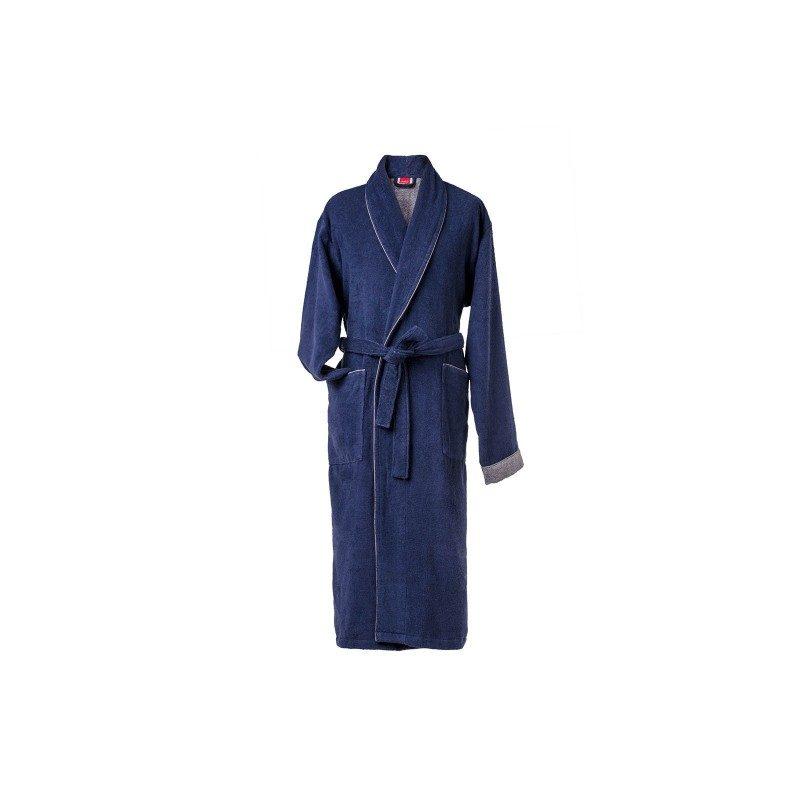 Muški bade mantil izrađen od visokokvalitetnog pamuka je klasičnog izgleda, dostupan u dvije boje, sa dubokim džepovima i pojasom.