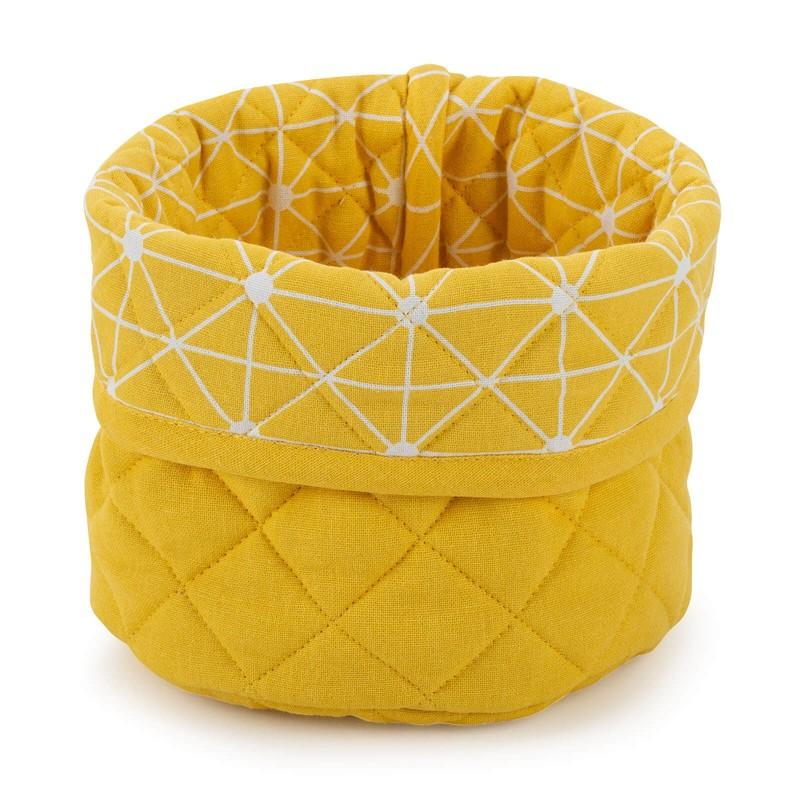 Okrugla korpa izrađena je od pamučne tkanine i visokokvalitetnih mikro vlakana. Namijenjena je za spremanje raznih proizvoda, kao i za posluživanje hleba i drugih pekarskih proizvoda. Moderan dizajn daće svoj doprinos lijepo uređenoj kuhinji. Korpa se može prati na 40 ° C.