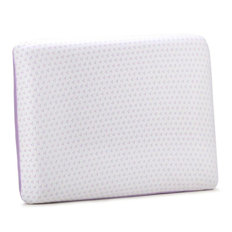 Klasični jastuk od pjene Lavanda Memory, sigurno će vas uvjeriti u svestranost, jer je pogodan za sve položaje spavanja. Memorijska pjena kombinuje prednosti i karakteristike klasičnih jastuka i jastuka od lateksa. Savršeno se prilagođava obliku i pritisku tijela, savršeno podupire vrat i kičmu i opušta tijelo tokom spavanja. Navlaka se skida i pere na 40 °C.