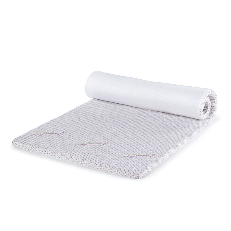 Naddušek od memorijske pjene Lavender Memory je visok 3,5 cm i daje dodatnu mekoću i udobnost vašem ležaju, produžava njegov životni vijek i obezbjedjuje da se budite odmorni i naspavani. Jezgro od ViscoCell Memory memorijske pjene prilagođava se tijelu i obezbjeđuje mu kvalitetan odmor. Za dodatnu udobnost postaraće se nježni miris lavande, koji umiruje, smanjuje napetost i nesanicu. Navlaka naddušeka se skida i periva je na 60 °C.