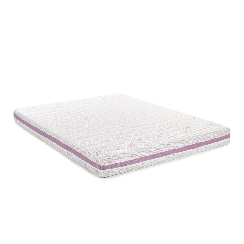 7-zonski dušek od pjene Hitex Lavender Comfort visine 16 cm, pruža potpunu podršku i udobnost vašem tijelu i obezbjeđuje da se ujutro probudite naspavani i odmorni. Ortopedsko jezgro napravljeno od visoko elastične poliuretanske pjene, savršeno se prilagođava tijelu i pruža kvalitetan odmor. Nježan miris lavande u navlaci, koji umiruje i oslobađa od napetosti i nesanice, pruža dodatnu udobnost. Navlaka dušeka se skida i pere na 40 °C.