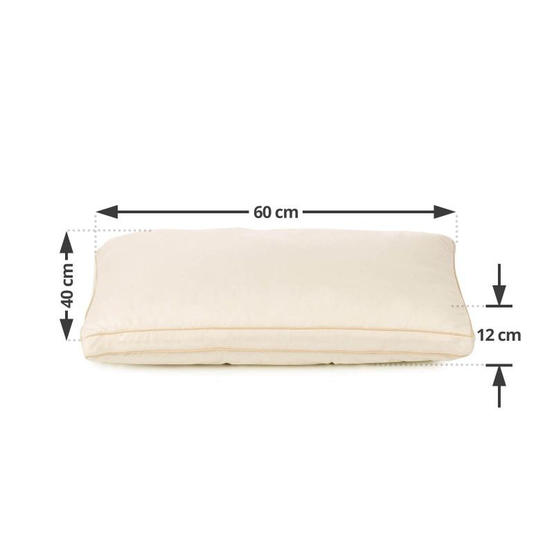 Klasični oblik jastuka za sve položaje spavanja Bamboo Premium My First Pillow je primjeren za najmlađe mališane, od druge godine starosti kao i za malo starije jer je jastuk podesiv po visini i tvrdoći. Kombinacija nebijeljenog pamuka i prirodnih bambusovih vlakana u navlaci jastuka je specijalno razvijana za osjetljivu dječiju kožu.  Jastuk je u cjelosti periv na 40 °C.