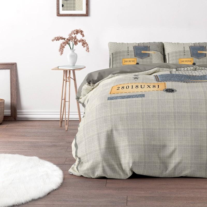 Vrijeme je za potpuno uživanje u modernim pamučnim posteljinama! Posteljina Jeans Pocket je izrađena od renforce platna, koji važi za laganu i mekanu tkaninu, koja se lako održava. Moderan dizajn sa printom će vas očarati. Posteljina je periva na 40 °C.