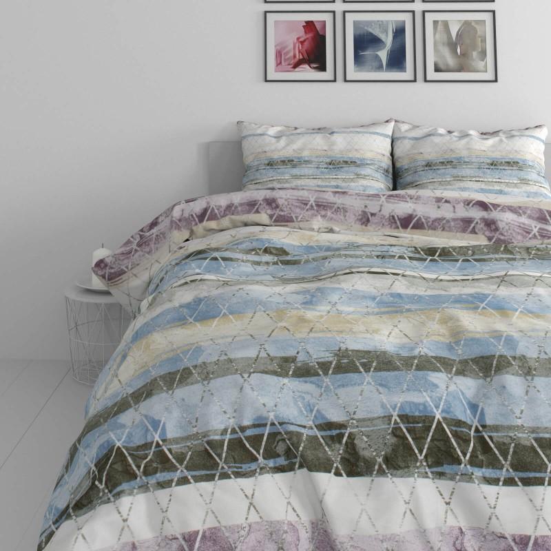 Vrijeme je za potpuno uživanje u modernim pamučnim posteljinama! Posteljina  Aquarelle je izrađena od renforce platna, koji važi za laganu i mekanu tkaninu, koja se lako održava. Moderan dizajn sa printom će vas očarati. Posteljina je periva na 40 °C.