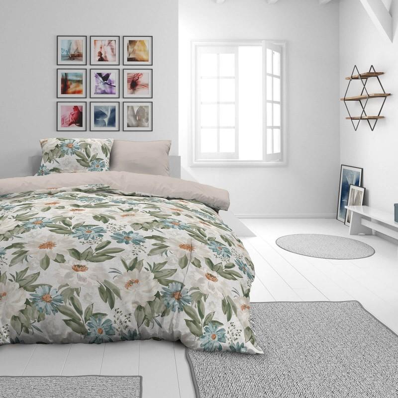 Vrijeme je za potpuno uživanje u modernim pamučnim posteljinama! Posteljina Beige Garden od mekanog pamučnog satena, koji je satkan od visokokvalitetnog, tankog tkanja. Posteljina od satena je prekrasan ukras vaše spavaće sobe, a u isto vrijeme odličan izbor za udoban i ugodan san. Posteljina je periva na 40°C.