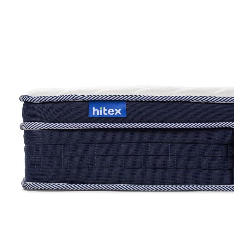 7-zonski dušek Hitex Zero Air Gravity 24 Memory visine 24 cm, pruža vašem tijelu potpunu podršku i udobnost, tako da ćete ujutru biti odmorni i naspavani. Nezavisne džepičaste opruge u kombinaciji sa dodatnim slojem filca u jezgru i slojem memorijske pjene, osiguravaju pravilan položaj tijela i opuštajući san.