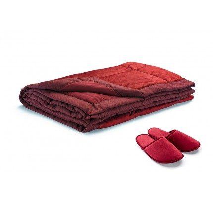 Dekorativni prekrivač Vitapur Family SoftTouch Home - crveni