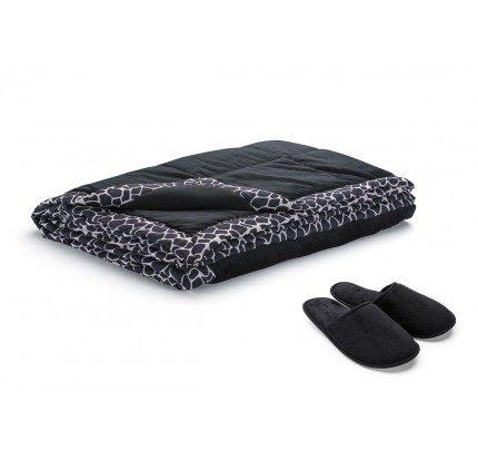 Dekorativni prekrivač Vitapur Family SoftTouch Home - crni