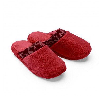 Ženske papuče VITAPUR Family Soft Touch HOME – crvene