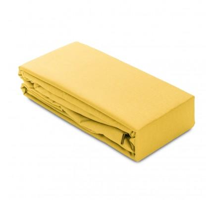 Čaršav pamučni elastični Ivonne - žuti