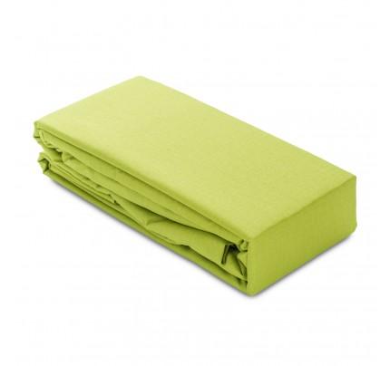 Čaršav pamučni elastični Ivonne - zeleni
