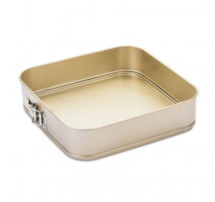 Četvrtasti kalup za pečenje torte Rosmarino Baker Golden 28 cm
