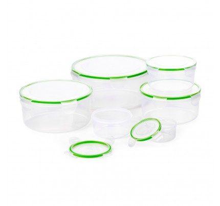 12 - djelni set okruglih posuda za odlaganje hrane Rosmarino