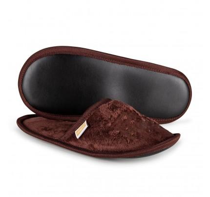Papuče Vitapur SoftTouch sa printom – braon