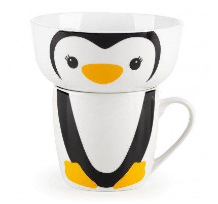 2-djelni dječiji set od porcelana Rosmarino – pingvin