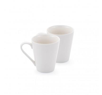 Set od 2 šalice od porcelana Rosmarino Cucina Bianca - 325 ml