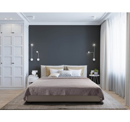Prekrivač za krevet Svilanit - braon