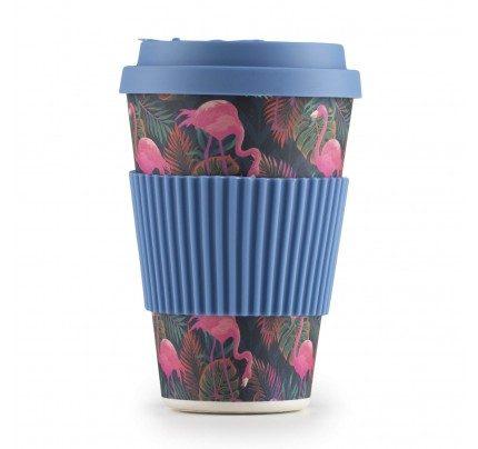 Bambus šoljica za kafu Tropical Flamingo - 400 ml
