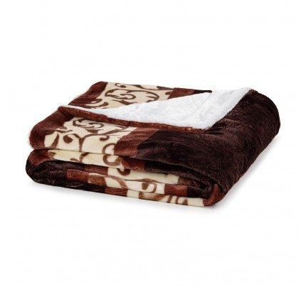 Dekorativni prekrivač Vitapur Beatrice - braon