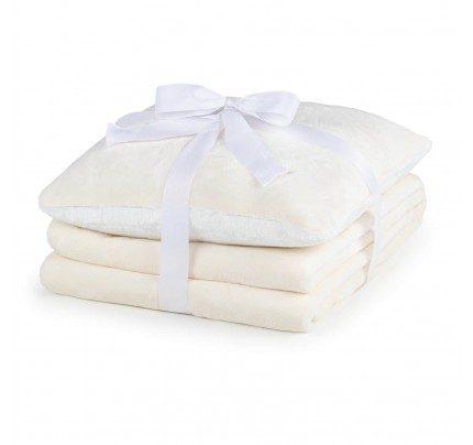 Prekrivač i jastuk Vitapur Beatrice Solid – bijeli
