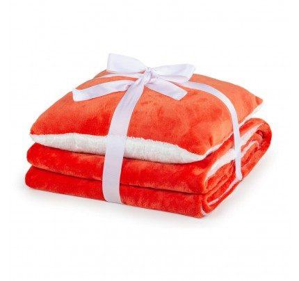 Prekrivač i jastuk Vitapur Beatrice Solid – narandžasti