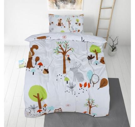 Dječija pamučna posteljina Svilanit Woodland II